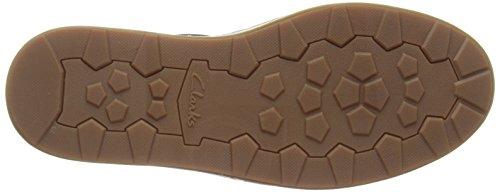Clarks Lorsen Edge - zapatilla deportiva de cuero hombre Azul (Navy Combi Lea)
