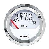 Sunpro CP8205 StyleLine Voltmeter - White Dial