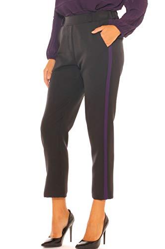Banda Nero Freesketch Con Contrasto Elegante Pantalone A Laterale Baggy Donna Rww64TxXq
