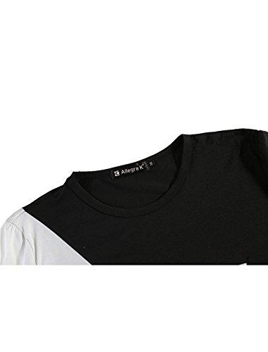 shirt Décontracté Allegra T Noir Étoile Hommes Motif De K Couleur Contraste qZqz0gxw