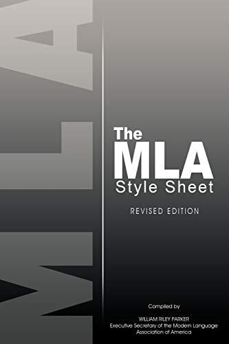mla style sheet - 1