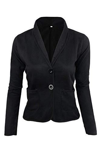 Noir Femmes Et Xxx large Taille De Noir Ringer Poches coloré Vêtements Casual Travail Avec Serrés Oudan Blazer xFYq7dwF