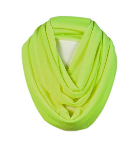 Infinity Jersey - Scarfand's Light Weight Infinity Scarf with Solid Colors or Chevron Print (Bright Yellow)