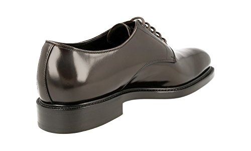 Prada Men's 2EA072 055 F0192 Brown Leather Business Shoes EU 10 (44)/US 11 by Prada (Image #4)