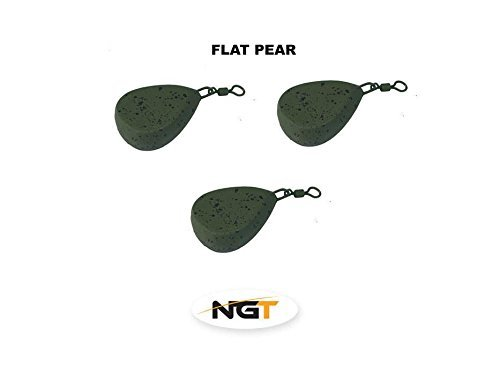 x 3 flat pear carp fishing weights 1.50oz carp//coarse fishing