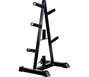 York Barbell 69036 Olympic A-Frame Plate Tree Black