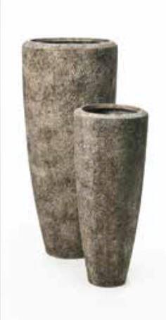 Blumenübertopf Polystone Partner aus gemahlenen Stein und Kunststoff, nur für den Innenbereich geeignet, Ø 32cm Höhe 46cm