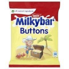 Nestle Milkybar White Chocolate Buttons Single - Pack of 6 by Milkybar