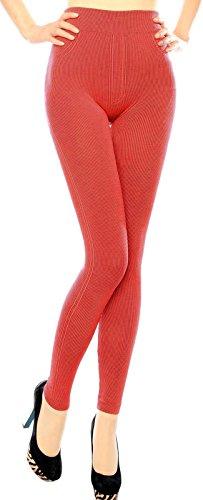 Simplicity Womens Texture High Waist Leggings