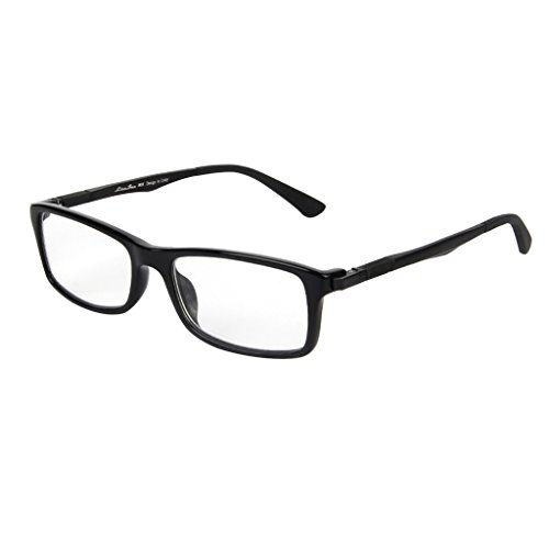 17 Rectangle Magnet (LianSan Designer Acetate Readers Mens Womens Fashion Rectangle Reading Glasses 1.0 1.5 2 00 2.50 3.0 3.5 4.0 L7017H Black (+3.00))