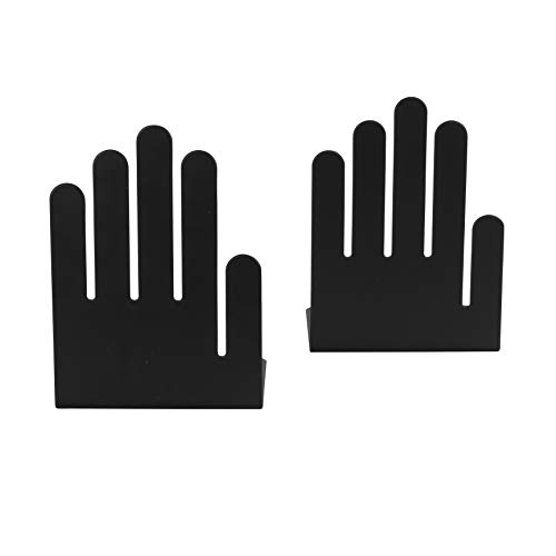 - Spectrum Diversified Hand Bookends, Large, Black