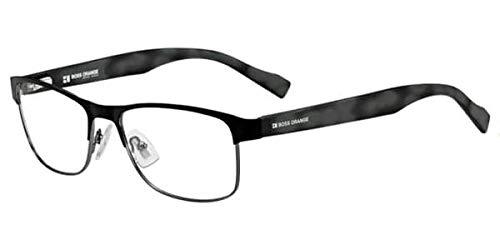 BOSS ORANGE Eyeglasses 0114 0Aed Black Ruthenium Gray Spotted 53MM