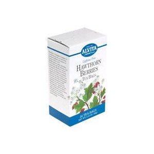 Hawthorne Berries 24 Bags (Alvita - Hawthorn Berries, 24 bag)