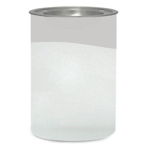 YANKEE CANDLE 1507890 Serene Sandblast Cool Grey Bruciatore per Tart, Vetro, Bianco/Grigio, 11.7x12.1x17 cm