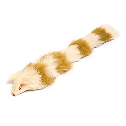 Iconic Pet Long Tailed Fur Weasel Toy with Squeaker for Cats and Dogs - Best Exercise Pet Play Toy, Keeps Pet Active, Cat Toys, Dog Toys for Boredom 4