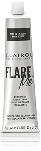 Clairol Professional Flare Me Hair Color, Power To The Purple, 2 Ounce (Clairol Flare Me Power To The Purple)