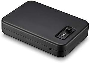 Younion Pistol Safe,Portable Travel Gun Safe