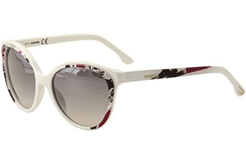 Diesel sunglasses DL 0009 sunglasses 24C White with multicolor print - Sunglasses White Diesel