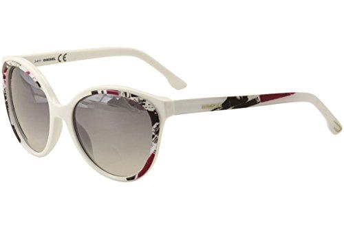 Diesel sunglasses DL 0009 sunglasses 24C White with multicolor print - Diesel Sunglasses White