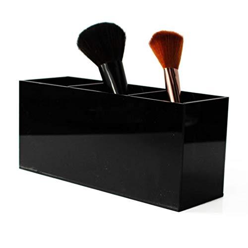 JIAEJDSALJ Makeup Brush Lipstick Holder Display Stand Clear Acrylic Cosmetic Organizer Makeup Case Sundry Storage Makeup Organizer Black