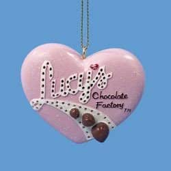 I Love Lucy Flashing Light Heart Christmas Ornament Chocolate Factory