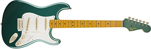- Fender  Squier Classic Vibe 50's Stratocaster Electric Guitar - Sherwood Green Metallic - Maple Fingerboard