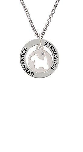 - Scottie Dog Silhouette - Gymnastics Affirmation Ring Necklace