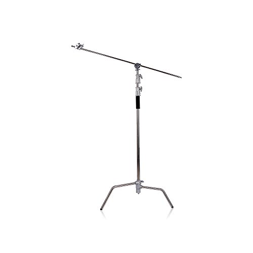TRUMAGINE Photo Studio Heavy Duty 10FT/3M Adjustable C-Stand with 4FT/1.2M Holding Boom Arm for Photo Studio Photography and 2 Pieces Grip Head for Photography Studio Video Reflector by TRUMAGINE