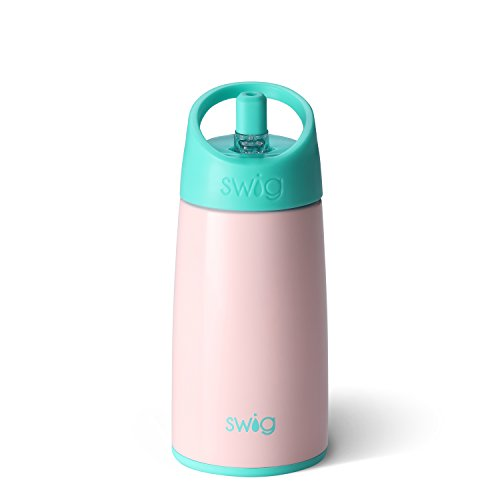 Swig Life Stainless Steel Signature 12oz Kid Bottle with Flip & Sip Kid-Friendly Top in Blush