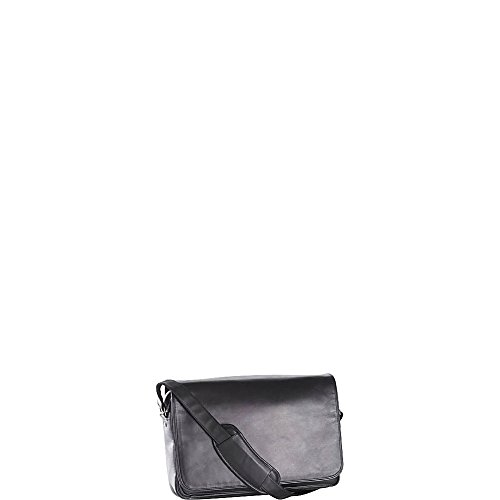 (Clava Leather Laptop Mailbag/Sling (Vachetta Black))