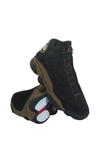 Jordan Air 13 Retro Olive Herren Lifestyle Retro Basketball Freizeitschuhe Schwarz / True Rotlicht Olive