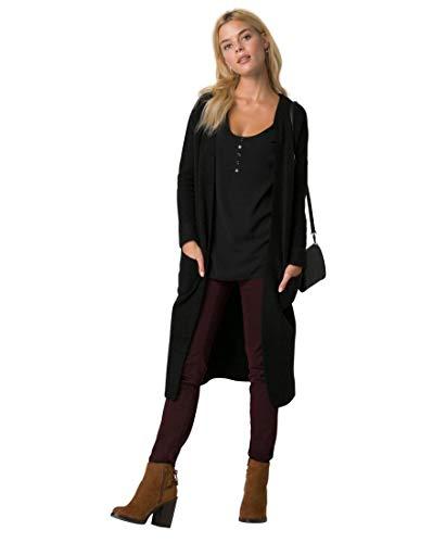 LE CHÂTEAU Textured Bouclé Sweater Coat,S,Black -