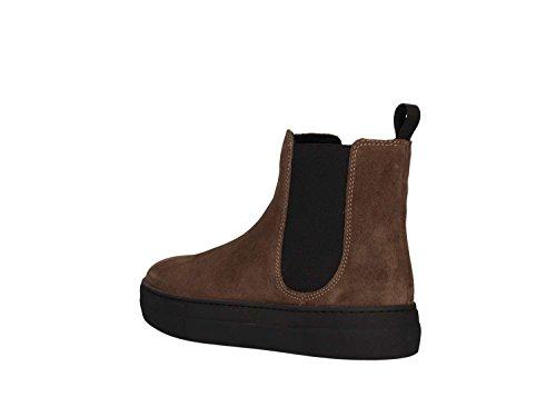 marrone donna 40D1 beatles scarpe camoscio FRAU elastico Marrone stivaletti visone S1IxB