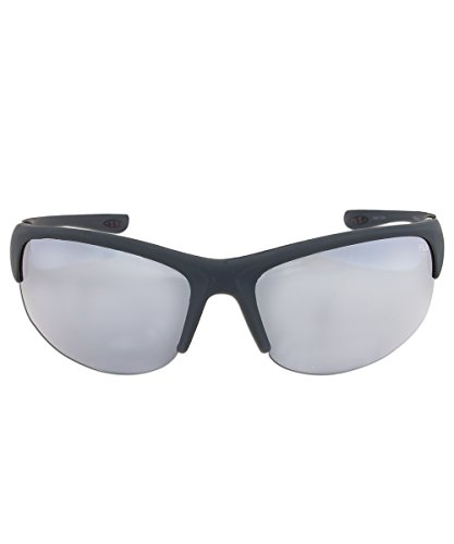 Fila Sport F1033E Wrap Sunglasses, Rubberized Metallic - Sunglass Fila