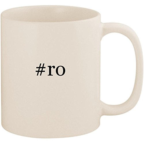#ro - 11oz Ceramic Coffee Mug Cup, White