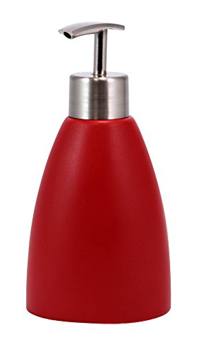 (Kiera Grace Cleo Ceramic Lotion Dispenser, Matte Red)
