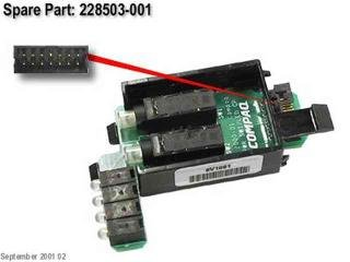 228503-001 Compaq Power Switch Board With Led