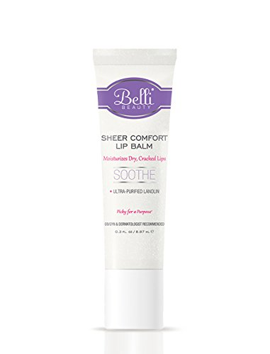Sheer Lip Balm (Belli Sheer Comfort Lip Balm – Soothes Dry, Cracked Lips – OB/GYN Specifically Designed for Expecting Moms – Hypoallergenic and Dermatologist Recommended – 0.3 oz.)