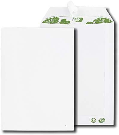 Paquet de 50 pochettes blanches C5 162x229 90 g//m/² bande de protection