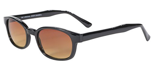 KD's ahumado gafas Marco de 2010 Negro ámbar bikers sol auténticas lente wdtxfqUII