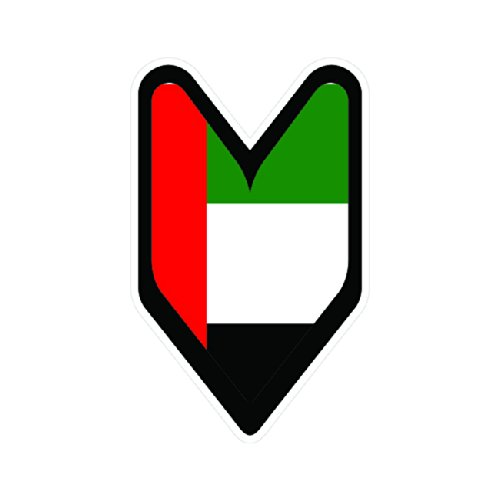 Emirati Driver Badge Sticker Die Cut Decal FA Vinyl