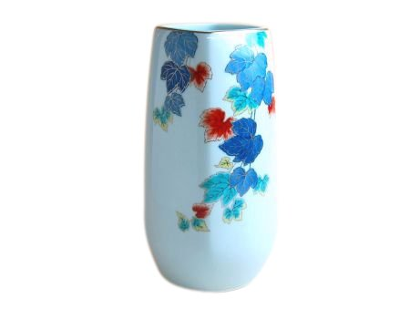 【有田焼】色絵つた 花瓶(木箱入) B01JUJ3M4C