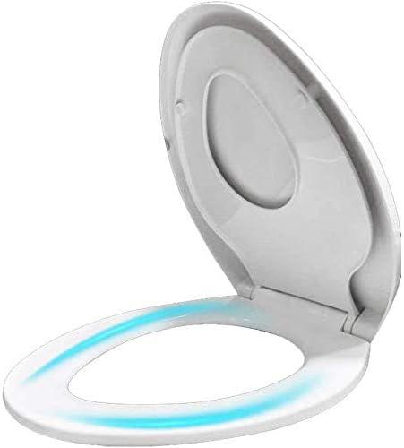 トイレシートV形大人の子供のトイレのふたとソフトクローズ調節可能なヒンジトップマウント超耐性トイレふた付きフィッティングキット