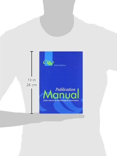 publication manual of apa 6th edition download