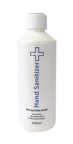 Hand Sanitiser 80% Alcohol Antibacterial Non-Sticky Liquid (150ml Spray & 500ml Refill) Click for More Sizes