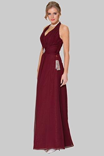 de halter honor cuerpo vestido 1223C EDJ1667 Encuadre Burgundy de SEXYHER del formal escote de de damas noche vestido entero zXUPq