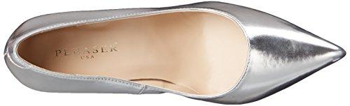 Donna 20 Classique Pu Con Pleaser Scarpe slv Tacco silver Met Argento CZXqn5wx