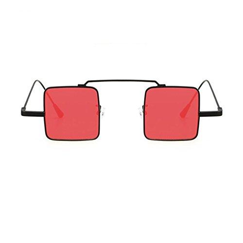 Gafas Viajes De Marco Sol De Sol Limotai Conducción De Compras Pequeñas Lente Para La Solnuevas T De De De Cuadradas Metal Gafas De Fiesta Mujeres negra roja Hombre Vendimia D217 película Uv4 Rojas Gafas Show De Gafas ZHwHBqnd