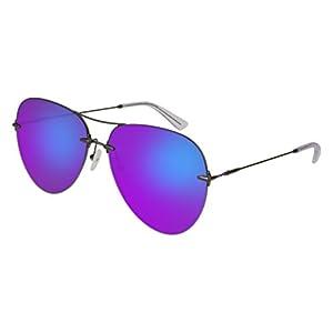 Christopher Kane CK 0010 S- 003 RUTHENIUM / VIOLET Sunglasses