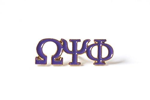 Omega Psi Phi Fraternity 3 Letter Purple Color Pin